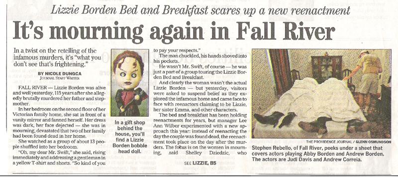 In the News   Lizzie Borden : Warps & Wefts